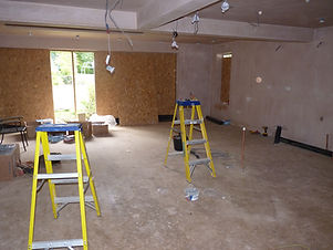 Kitchen extension building project
