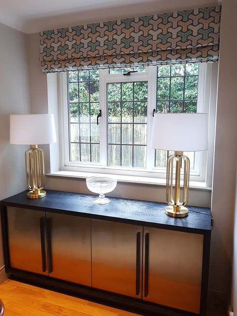 Sideboard in Ebony Ash with brushed bras