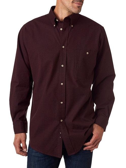 Nailhead Woven Shirt - Burgundy