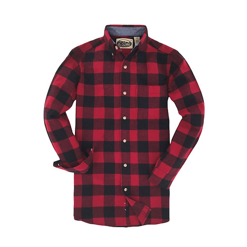 Penobscot Bay Flannel - Black Red