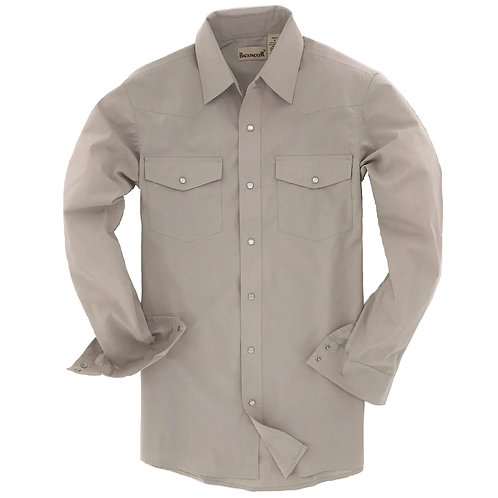 Outback Western Shirt -Stone