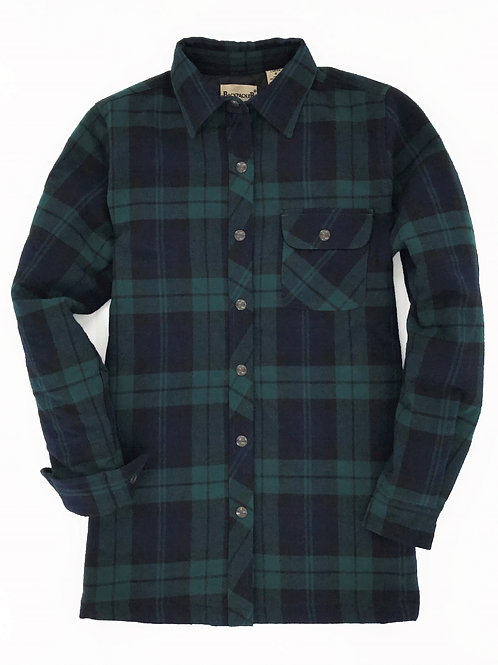 Women's Flannel Shirt Jac - Black Watch