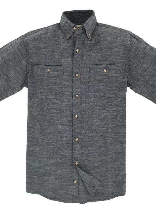 Slub Chambray Shirt - Charcoal