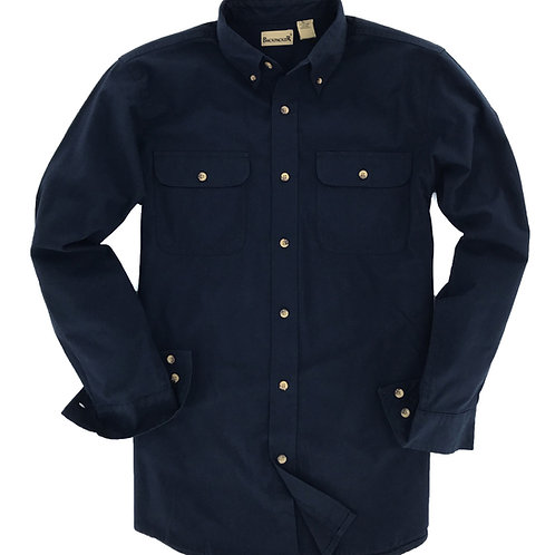 Classic Solid Flannel - Navy