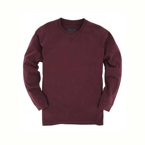 Ranger Long Sleeve Tee- Burgundy