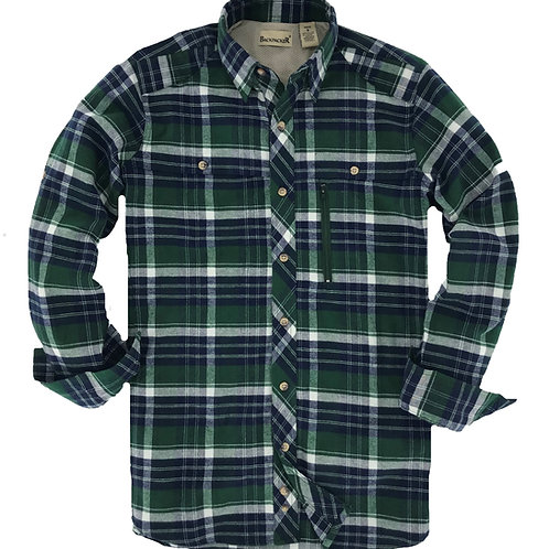 Albacore Stretch Flannel - Forest Green