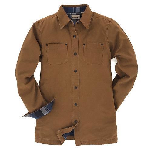 Women's Canvas Shirt Jac - Brown