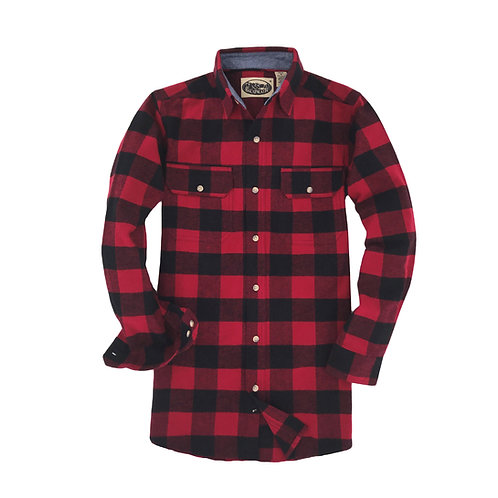 Canyon Falls Flannel - Black Red
