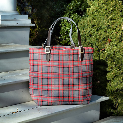 Around Town Tote - Red Grey