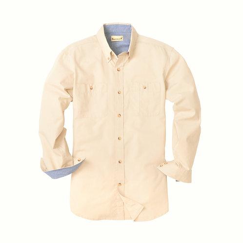Rip Stop Woven Shirt - Cream