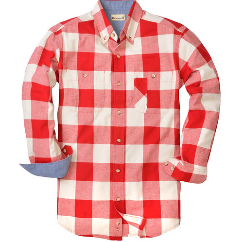 Yarn Dyed Flannel - Red White