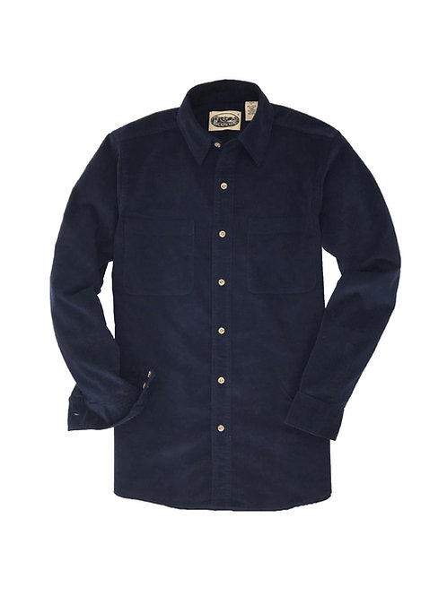 Cliff Walk Coruroy Shirt- Navy