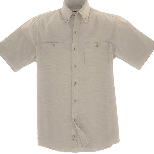 Slub Chambray Shirt - Beige
