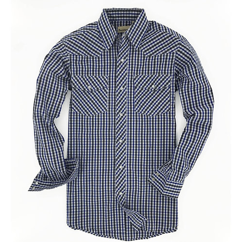 Big Sky Western Shirt - Navy Black