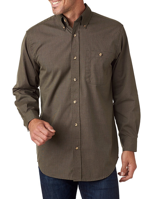 Nailhead Woven Shirt - Gold