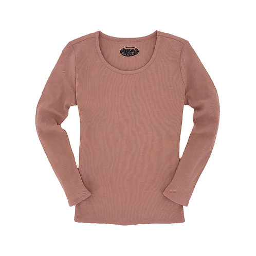 Women's Snug Harbor Waffle Top - Salmon