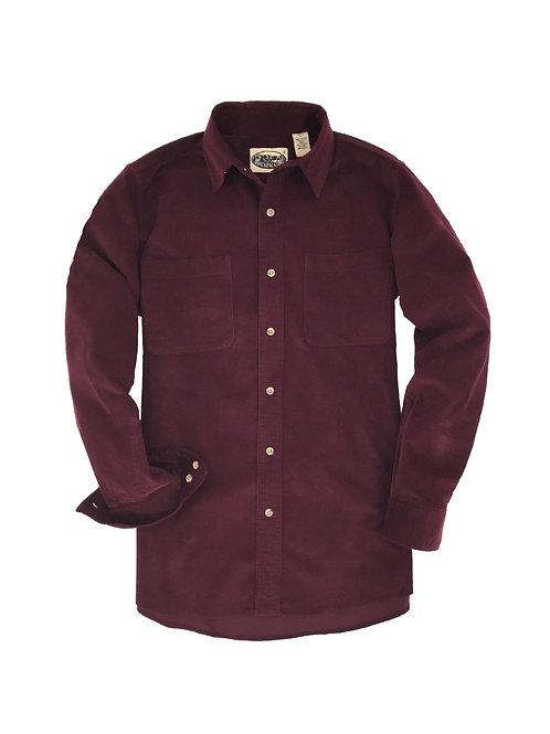 Cliff Walk Coruroy Shirt- Burgundy