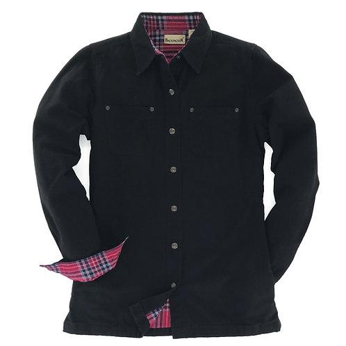 Women's Canvas Shirt Jac - Black