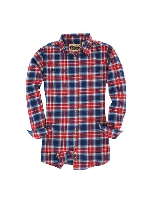 Women's Penobscot Bay Flannel - Blue Red