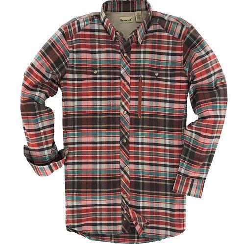 Albacore Stretch Flannel - Rust
