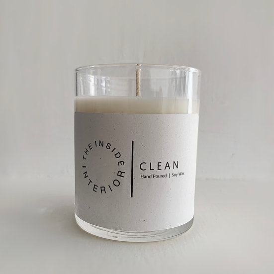 CLEAN, Hand Poured 100% soy wax candle