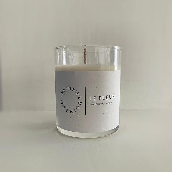LE FLEUR, Hand Poured 100% soy wax candle