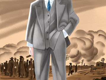 Hoover as portrayed in Vanity Fair & New Yorker