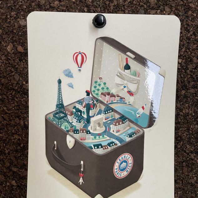 Urban Jungle Hotel Orleans- WOOD- postcard valise