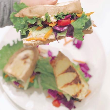 Rainbow Veggie Sandwich Recipe (Vegan, GF, SF)