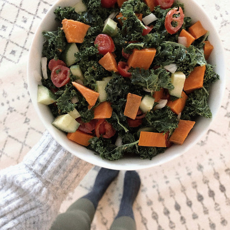 Simple Harvest Salad Recipe (Vegan, GF, SF, FF)