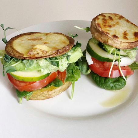 Garden Sliders with Basil Pesto Recipe (Vegan, GF, SF)