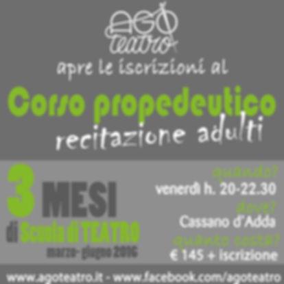 AGO teatro Scuola di TEATRO Milano Cassano d'Adda