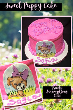 Sweet Puppy Cake