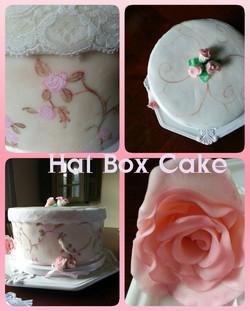 Old Fashion Hat Box Cake