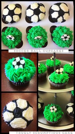 Socceer Cupcakes