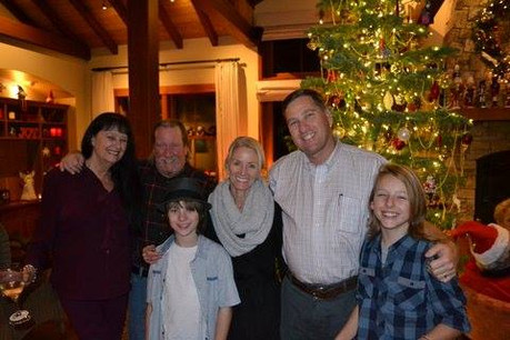 Jimmy and the LemMon Clan at Holiday Party