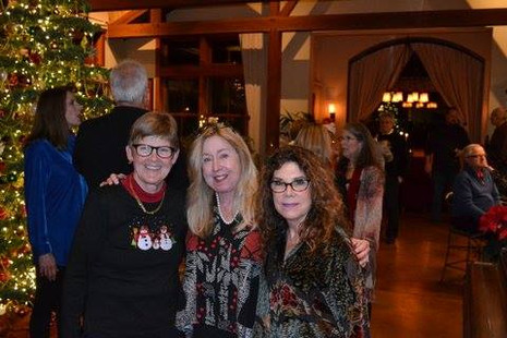Beth and Catherine at Holiday Party