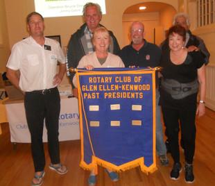 Rotary Club of Glen Ellen/Kenwood President's recognition