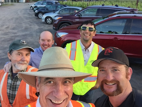 Pat Stevens and Parking Crew at Annual Crab Feed
