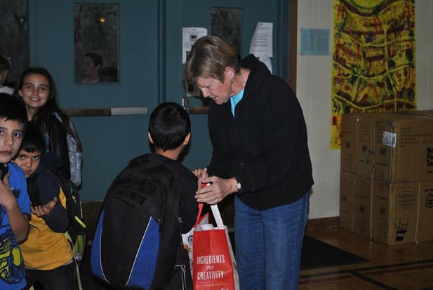 Beth at Dunbar Backpack Program
