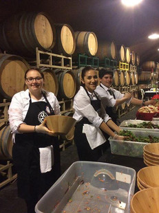 Sonoma Teen Center Servers at Crabfeed