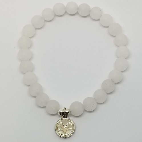 Science of Mind Beaded Bracelet in Matte Crystal Quartz