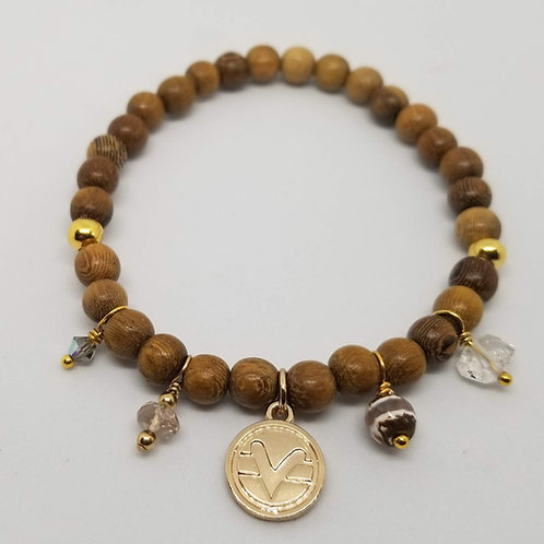 Charmed Science of Mind Bracelet in Robles Wood