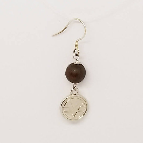 Beaded Science of Mind Earrings in Robles Wood