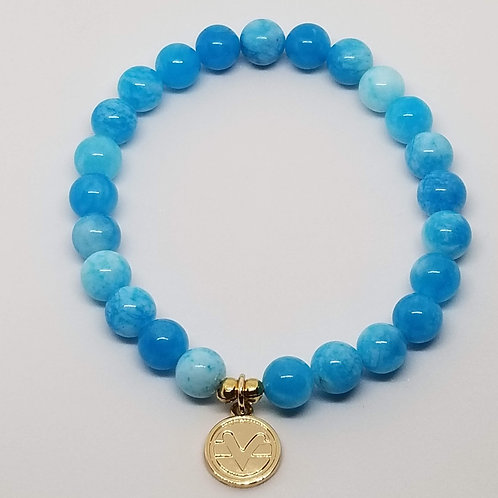 Science of Mind Beaded Bracelet in Aqua Jade