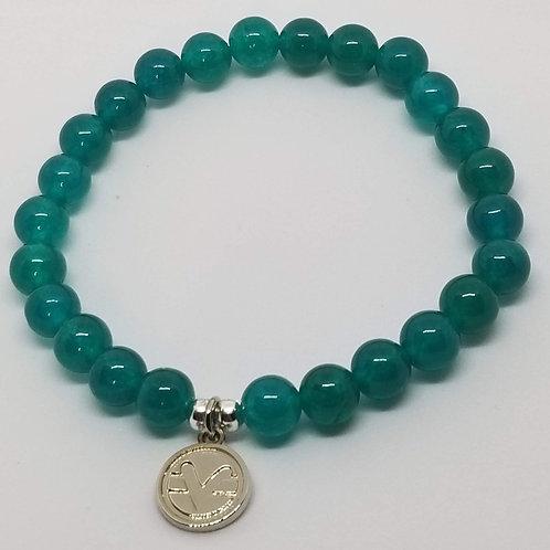 Science of Mind Beaded Bracelet in Emerald Jade