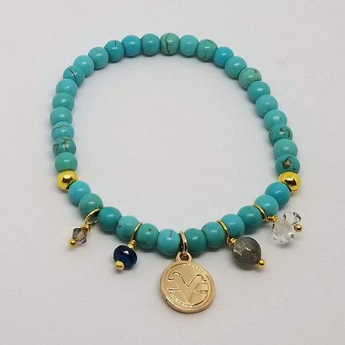 Charmed Science of Mind Bracelet inTurquoise Howlite