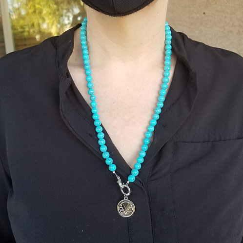 70 Bead Science of Mind Mala in Turquoise Howlite