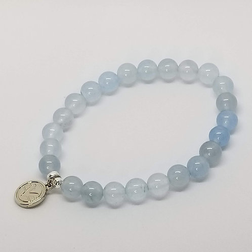 Science of Mind Beaded Bracelet in Ice Blue Jade