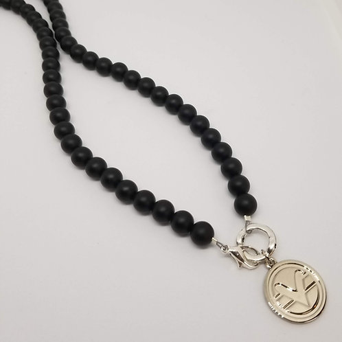 70 Bead Science of Mind Mala in Matte Black Onyx